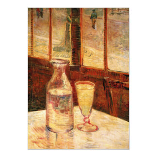 """The Still Life with Absinthe by Vincent van Gogh 5"""" X 7"""" Invitation Card"""