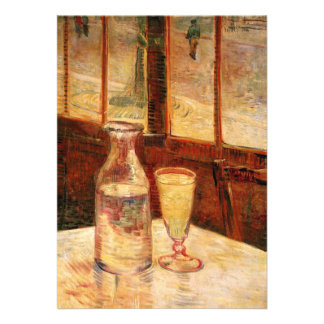 The Still Life with Absinthe by Vincent van Gogh Custom Invite