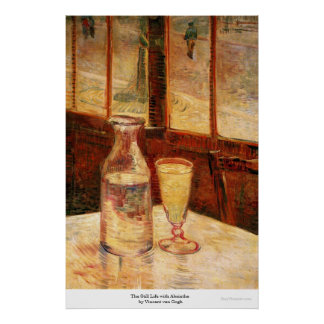 The Still Life with Absinthe by Vincent van Gogh Poster
