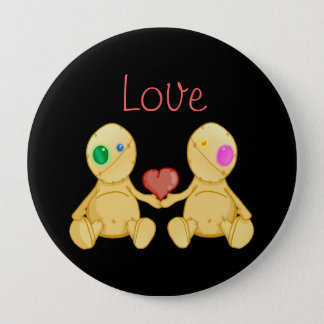 The Stitches Love 4 Inch Round Button