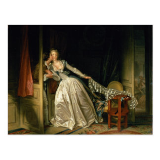 The Stolen Kiss by Jean-Honoré Fragonard Postcard