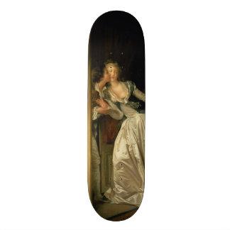 The Stolen Kiss by Jean-Honore Fragonard Skateboard