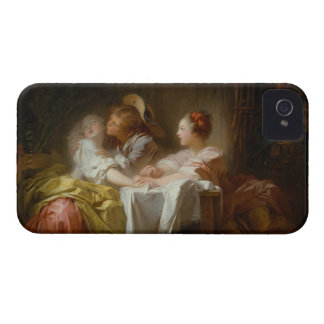 The Stolen Kiss - Jean Honoré Fragonard iPhone 4 Case-Mate Case