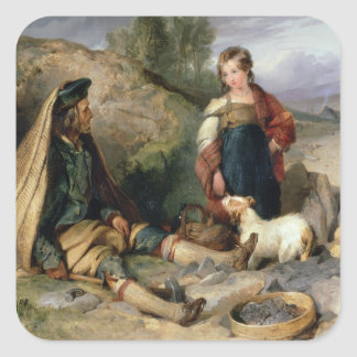 The Stone Breaker and his Daughter, 1830 Square Stickers