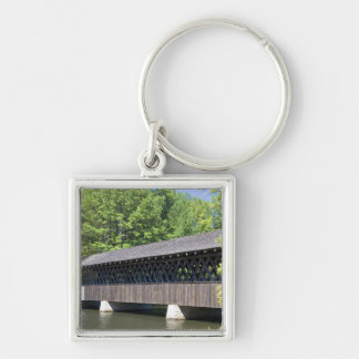 The Stone Mountain Covered Bridge at Stone Silver-Colored Square Keychain