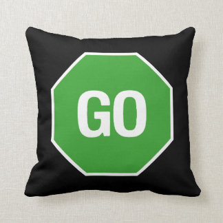 The Stop Go Pillow! Throw Pillow