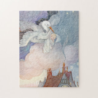 The Stork by Anne Anderson Jigsaw Puzzle