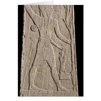 The storm-god Baal with a thunderbolt Card
