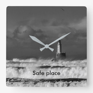 The storm in the North Sea Square Wall Clock