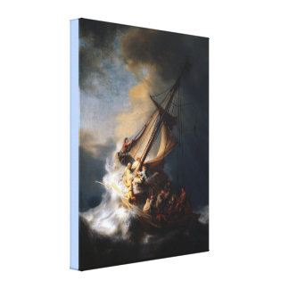 The Storm on the Sea of Galilee by Remb van Rijn Canvas Print