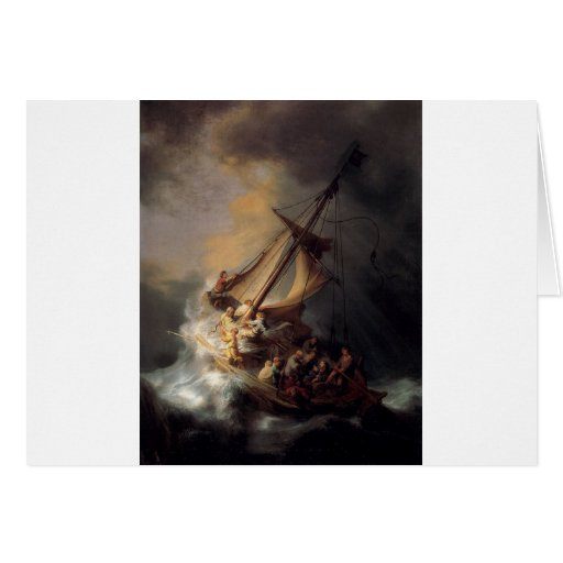 The-Storm-on-the-Sea-of-Galilee-by-Rembrandt-van-R Greeting Cards