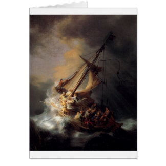 The-Storm-on-the-Sea-of-Galilee-by-Rembrandt-van-R Greeting Card