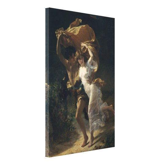 The Storm - Pierre-Auguste Cot Canvas Print