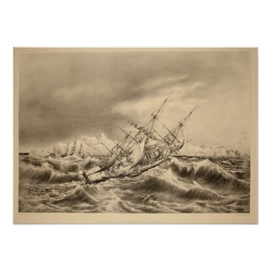 The Storm-Tossed Ship Poster