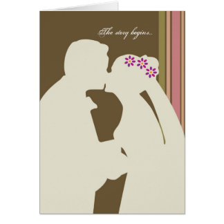 The story begins...wedding card