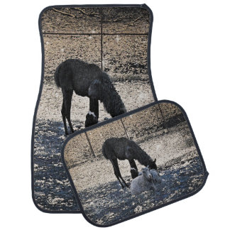 The Story of the Goat, the Llama, and the Sheep Car Mat