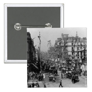 The Strand London with Jubilee Decorations 2 Inch Square Button