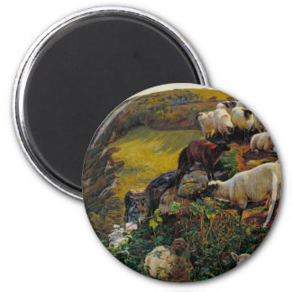 The Strayed Sheep 2 Inch Round Magnet