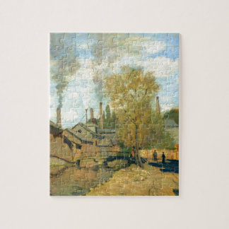The Stream of Robec at Rouen by Claude Monet Jigsaw Puzzle
