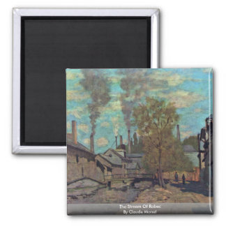 The Stream Of Robec By Claude Monet Magnet