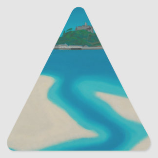 The Stream. Triangle Sticker