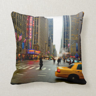 The Streets Of NYC Throw Pillow