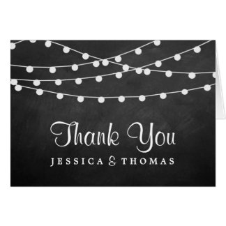The String Lights On Chalkboard Wedding Collection Note Card