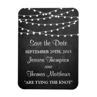 The String Lights On Chalkboard Wedding Collection Magnet