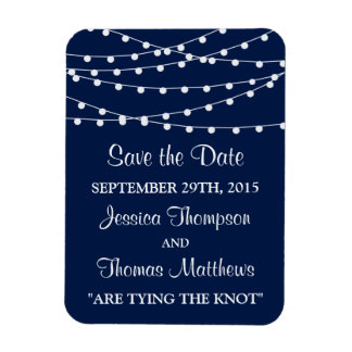 The String Lights On Navy Blue Wedding Collection Magnet