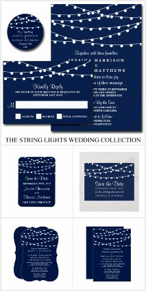 The String Lights Wedding Collection - Navy