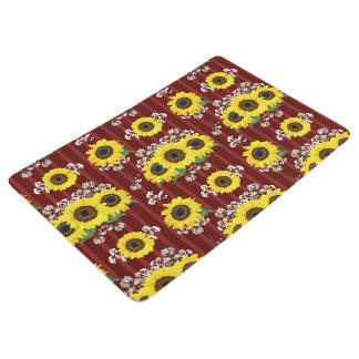 The Striped Red Fresh Sunflower Seamless Pattern Floor Mat