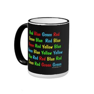 The Stroop Test Poster Ringer Mug