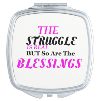 The Struggle Compact Mirror