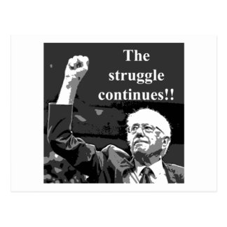 The struggle continues postcard