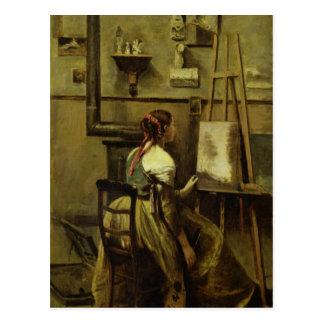 The Studio of Corot Postcard