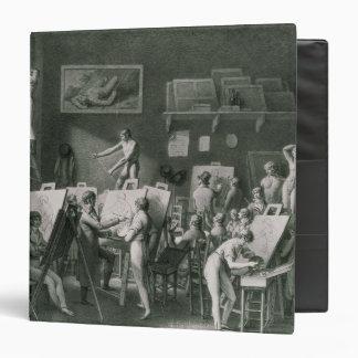 The Studio of Jacques Louis David 3 Ring Binder