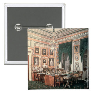 The Study of Alexander III  at Gatchina Palace 2 Inch Square Button