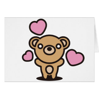 The stuffed toy of the bear card