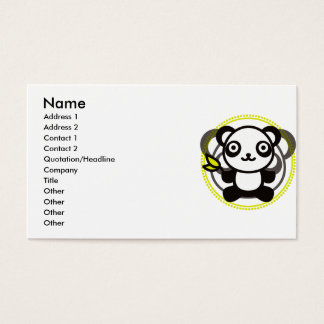 The stuffed toy of the panda business card