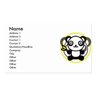The stuffed toy of the panda pack of standard business cards