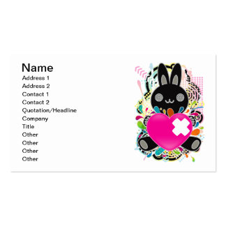 The stuffed toy of the rabbit pack of standard business cards
