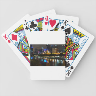 The Stunning Yarra And Melbourne Skyline at Night Bicycle Playing Cards