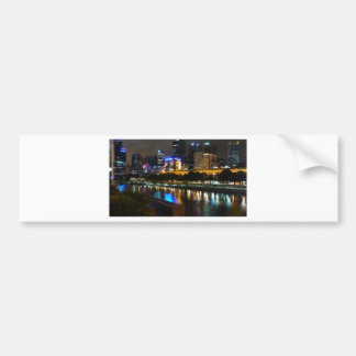 The Stunning Yarra And Melbourne Skyline at Night Bumper Sticker
