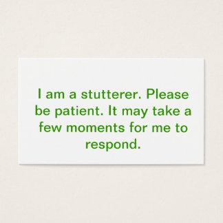 The stutterer's card