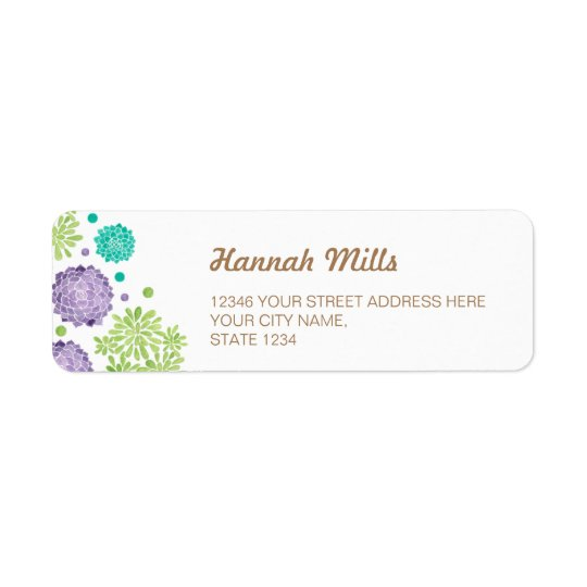 The Succulents Return Address Label