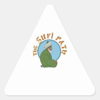 The Sufi Path Triangle Sticker