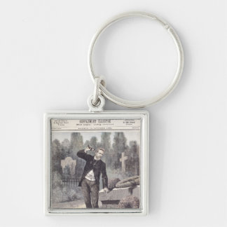 The Suicide of General Georges Ernest Silver-Colored Square Keychain