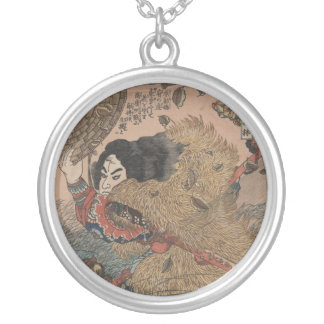 The Suikoden One of 108 Brave Warriors Silver Plated Necklace