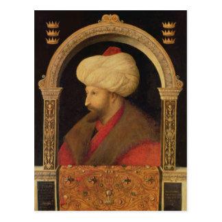 The Sultan Mehmet II  1480 Postcard