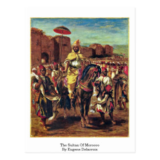 The Sultan Of Morocco By Eugene Delacroix Postcard